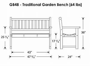 PDF Garden Bench Dimensions Plans Free
