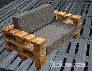 lounge gartenmobel 2 sitzer palettenmobel terrasse With französischer balkon mit vintage bank garten