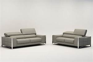 Canape 3 Places En Cuir Maison Design
