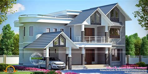 beautiful  square yards villa kerala home design