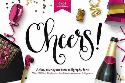 Cheers Script Font Graphics Fonts Pack Callie
