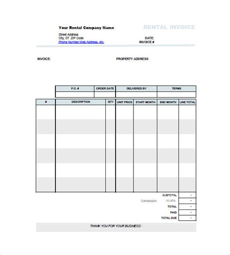 car invoice templates  sample  format