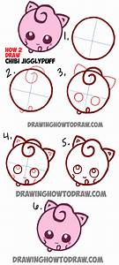 How to Draw Cute Baby Chibi JigglyPuff from Pokemon in ...