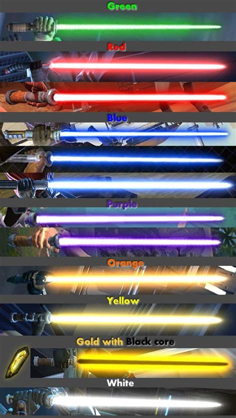 kotor 2 lightsaber colors swtor guide to lightsaber crystals quot space oddity quot david