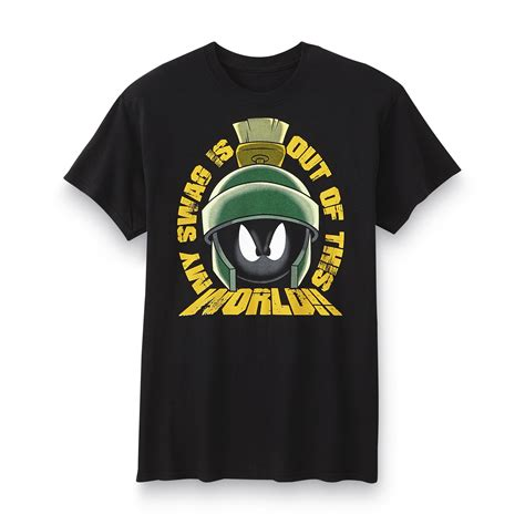 warner brothers marvin the martian s graphic t shirt