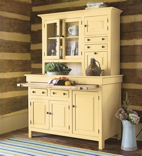 kitchen cabinets that look like furniture large painted finish conestoga cupboard plow and hearth