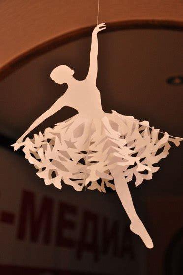 schneeflocken als ballerina basteln dekoking