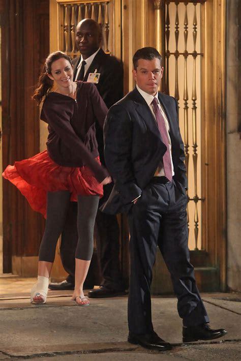 Emily Blunt Matt Damon Photos  Ellen Barkin Visits Matt