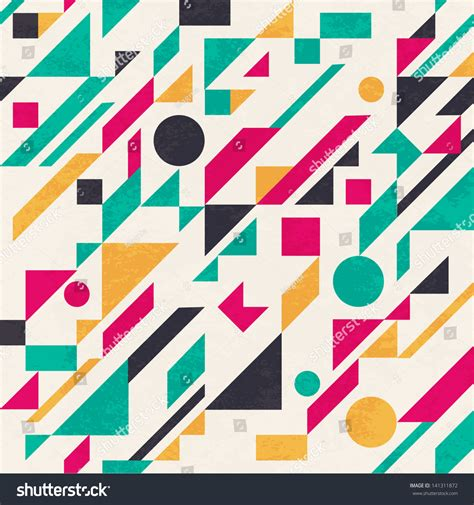 Abstract Geometric Shapes Pattern by Seamless Abstract Pattern With Geometric Shapes Vector