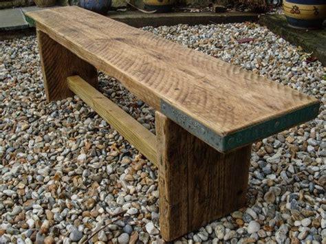 reclaimed scaffold board rustic simple wood bench ideas