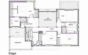 plan de maison a etage modele spoutniz laika vue d With amazing modele de plan maison 13 architecte au maroc