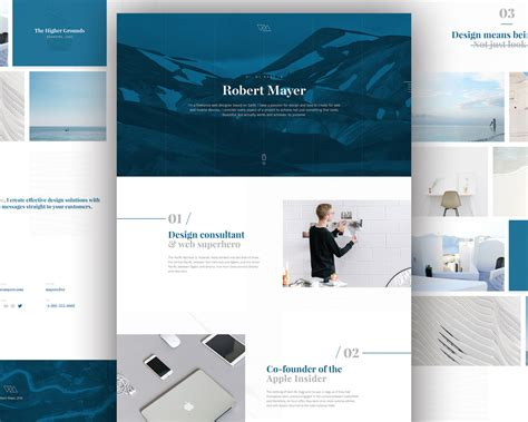 personal website template free psd download psd