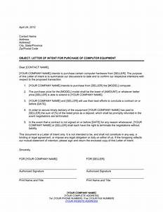 letter of intent to purchase business template free With letter of intent to purchase business template free
