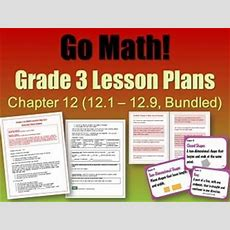Go Math! Grade 3 Chapter 12 (lessons 121  129 With Journal Prompts & Vocabulary) Lesson