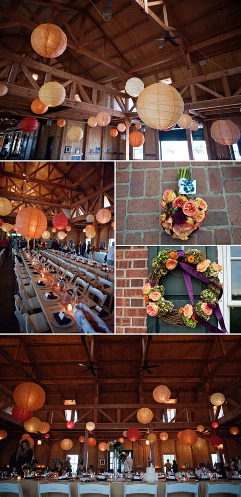 Estate Wedding With A Fall Color Palette Paper lanterns