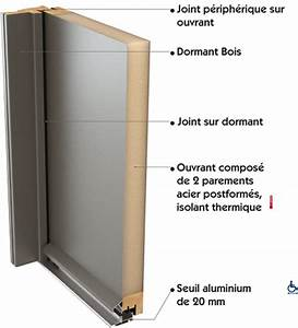 m menuiserie porte d39entree With porte isolante entre garage et maison