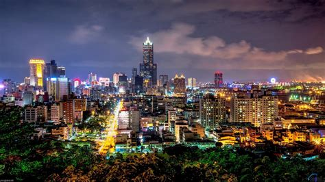 taiwan city  night hd wallpaper background images