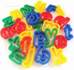 plastic alphabet dough cutters model making modelling With playdough letter cutters