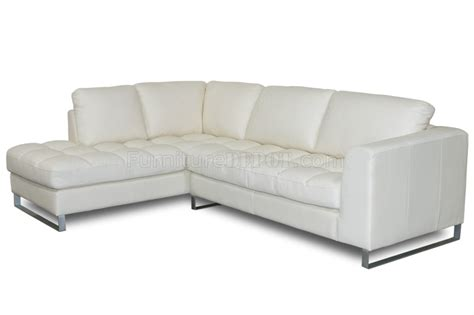 Sofa Metal Legs by Beige Bonded Leather Valentino Sectional Sofa W Metal Legs