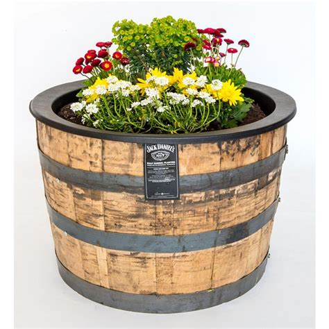 home depot whiskey barrel planters daniel s barrel planters home depot free