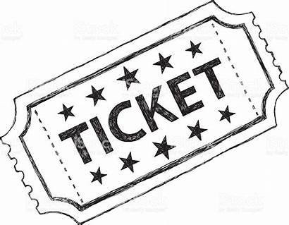 Ticket Clipart Tickets Kinokarte Movie Sketch Clipground