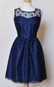 PROVENCE (Navy) :Navy blue lace dress, sweetheart neckline ...