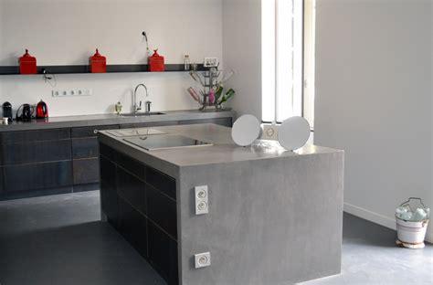 plan de travail en béton ciré cuisine béton ciré pour sol et mur béziers montpellier narbonne