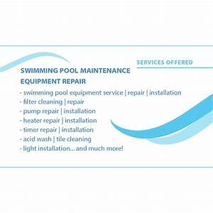 Elata pool service business card design arpidesigncom for Pool service business cards
