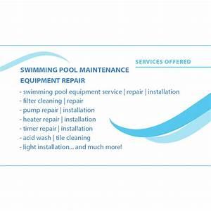 Elata pool service business card design arpidesigncom for Pool service business card