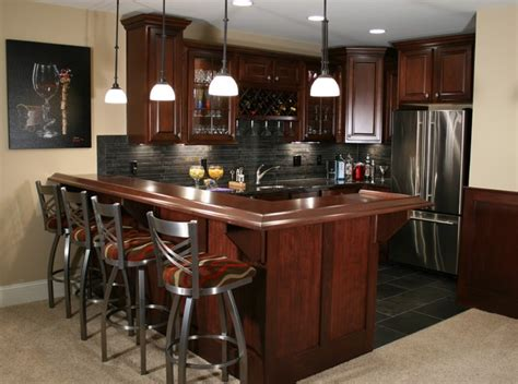 kitchen  bars traditional basement indianapolis