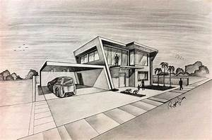 House Architecture Drawing – Modern House