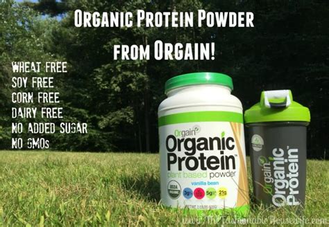 orgain organic protein powder  fashionable housewife