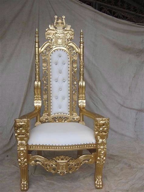 brand  lion king throne chair ornate french  gold