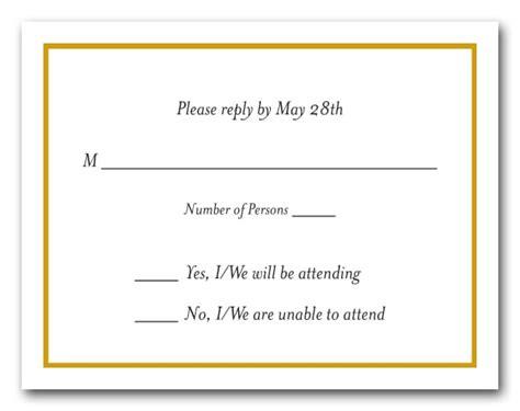 goldenrod border  white rsvp cards reply cards