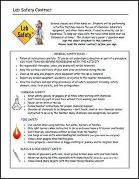 This Is The Lab Safety Contract I Created For My Middle School Students, But It Could Be Used