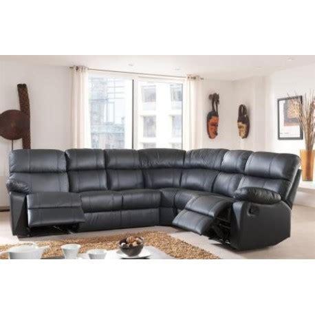 canapé d angle relax cuir canapé d 39 angle demi cuir avec 2 relax panel meuble