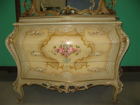 complete bedroom suite lacquered  venetian rococo style