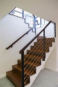 Cable staircase staircase modern with carpet texture cable