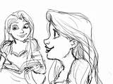 Rapunzel Face Tangled Sketches Sketch Coloring Template Imgarcade Credit Larger sketch template