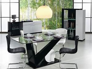 salle a manger fly blanc chaioscom With meuble salle À manger avec chaise cuir blanc salle a manger