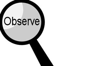 observe clipart black and white clipartfest