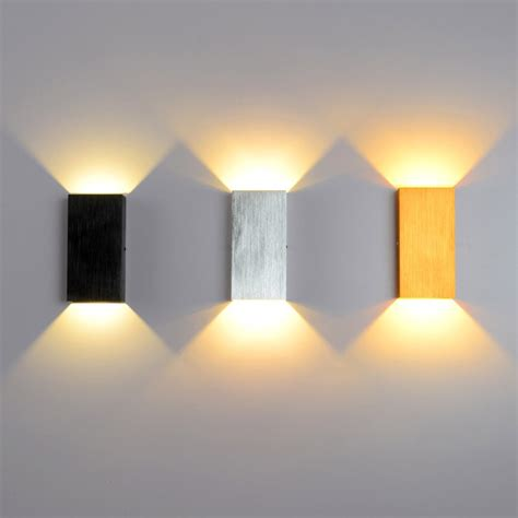modern led minimalist cube aluminum wall light in black