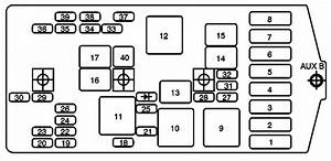 D8279 Pontiac Montana Fuse Box Diagram Interior