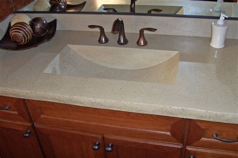 Unique Bathroom Countertops With Integrated Sinks Ideas