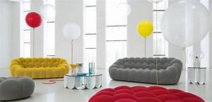 grand canape 3 places bubble roche bobois With tapis exterieur avec canapé cuir roche bobois 2 places