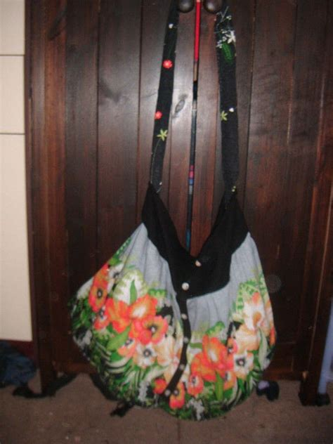 recycled clothing bag     shoulder bag