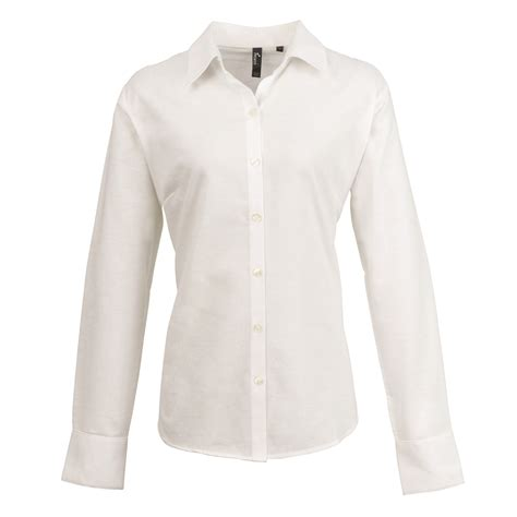 blouse white one size new premier womens smart oxford sleeve