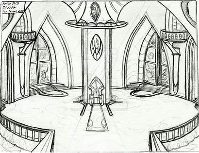 Throne Palace Royal Drawing Lostgalaxy Trakeena Cocoon