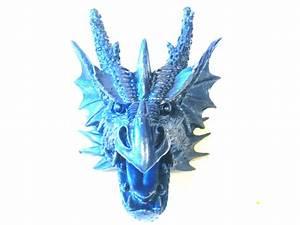 Faux Dragon Head // Metallic Blue