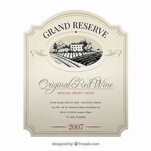 elegant wine label vector free download With free wine label template photoshop